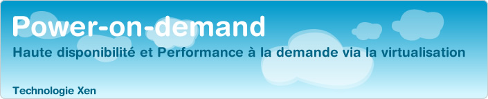 Hébergement virtualisé - Power on Demand Emencia