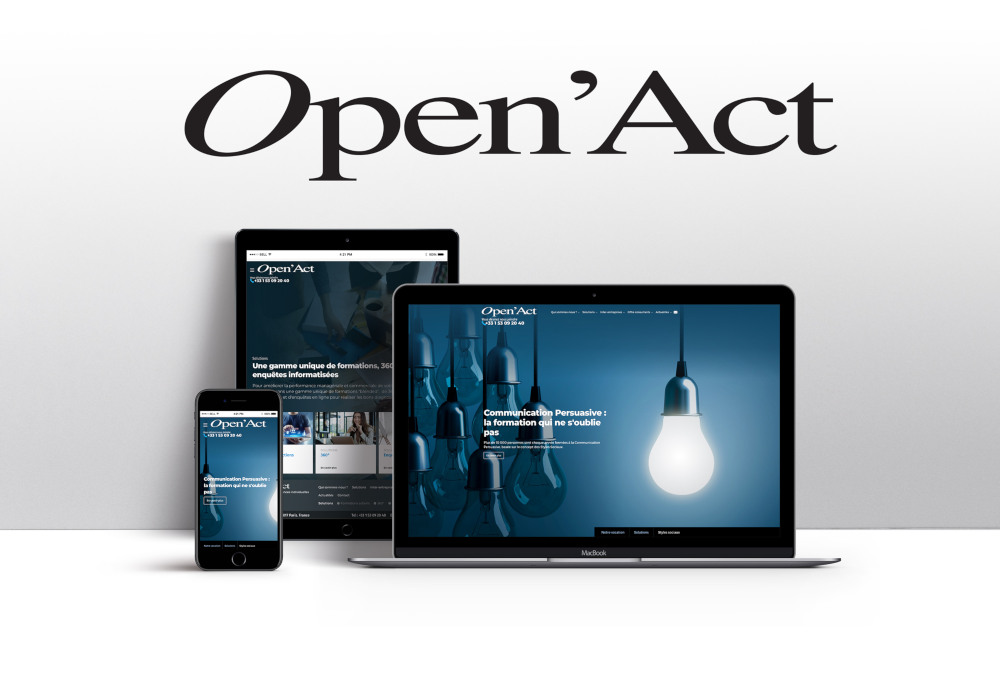 25/01/2019 - REFONTE DU SITE INTERNET D'OPEN' ACT